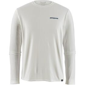 Patagonia Cap Cool Daily Graphic LS Shirt Herr boardshort logo/white